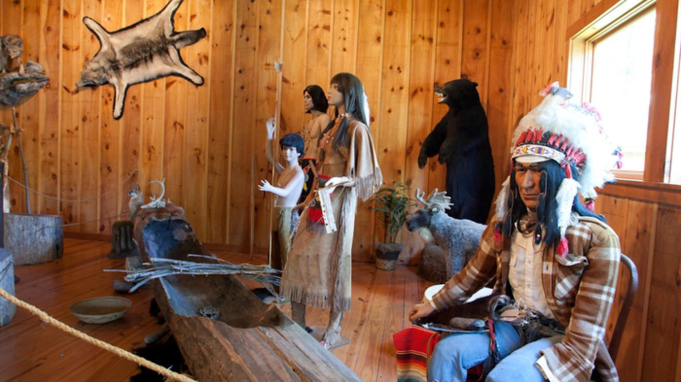 Native American Exhibit - complete with a life-size replica of a Lenni-Lenape longhouse. – David W. Coulter