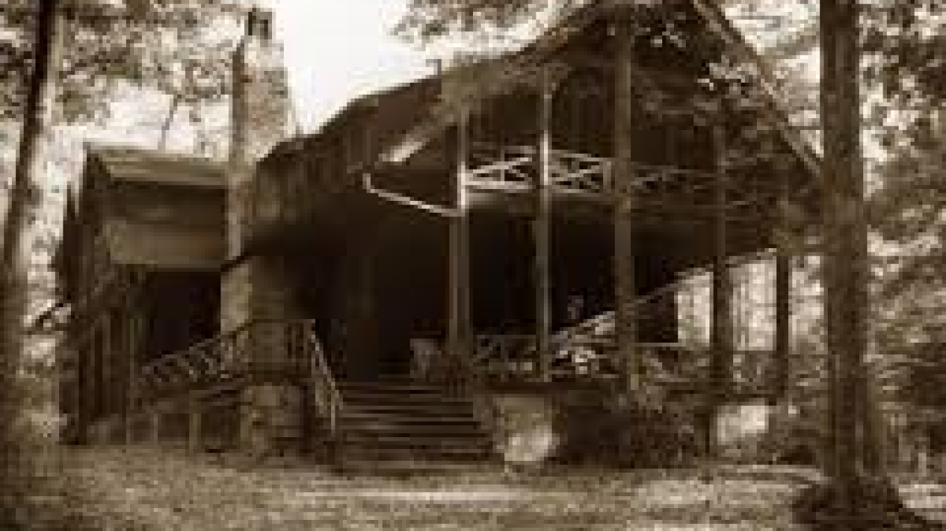 The lodge at Lacawac taken in 1927