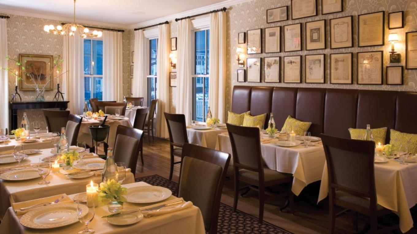 The Delmonico Room is the hotel's fine dining venue.