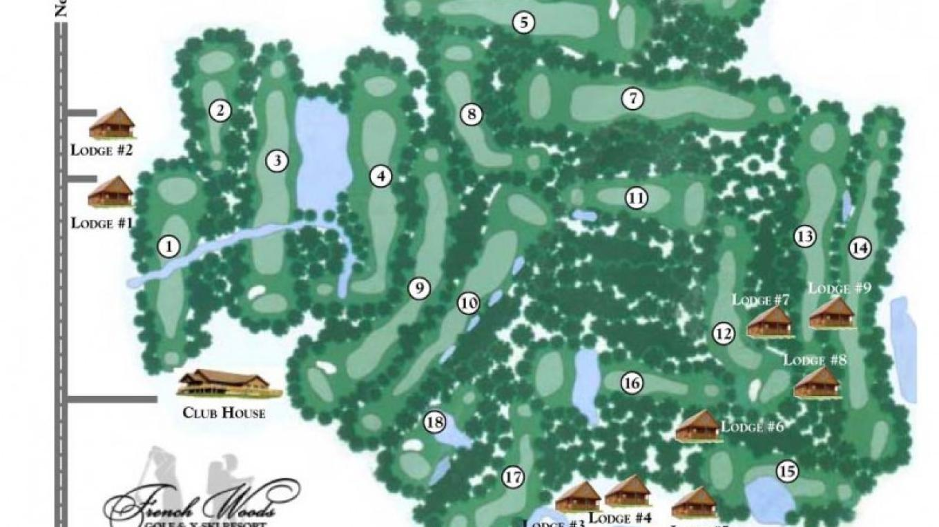 The Golf Course Cabin Map. – Staff