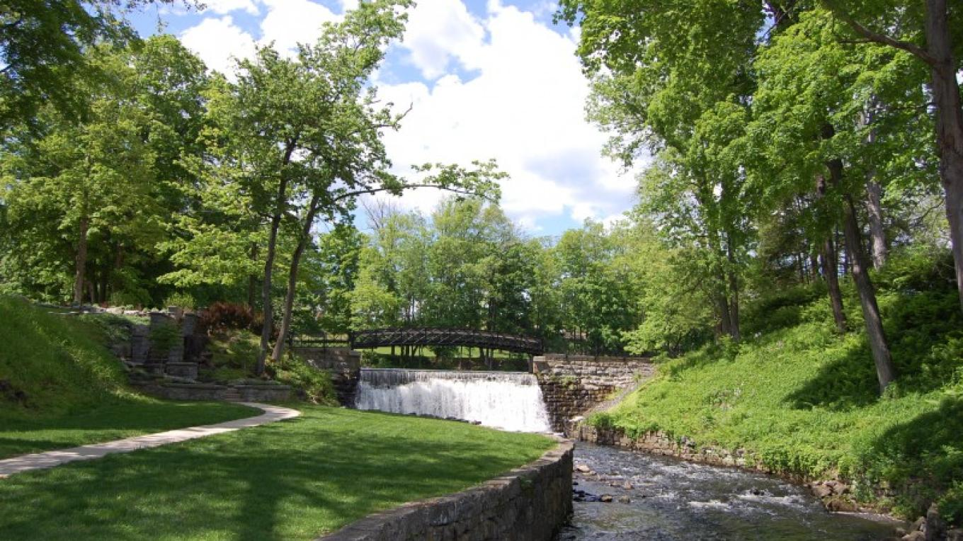 Scenic Blair Falls from Main Street in Blairstown, New Jersey – Christine Beegle