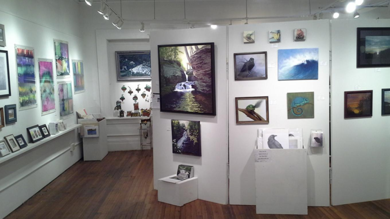 10 to 15 local artists display their work. – Rosalind Hodgkins