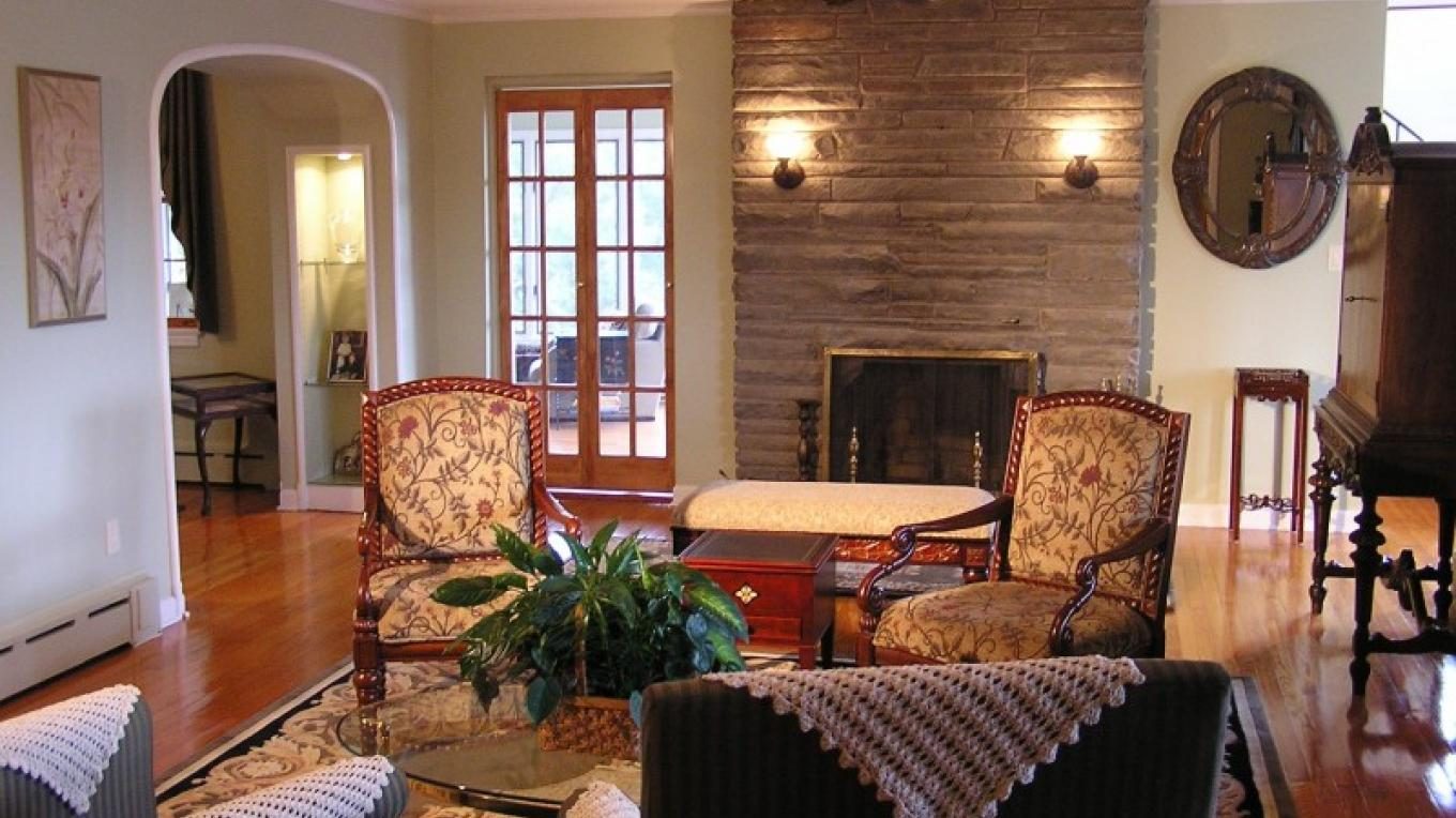 On winter evenings guests may relax next to a wood burning fireplace – Kurt Kreider