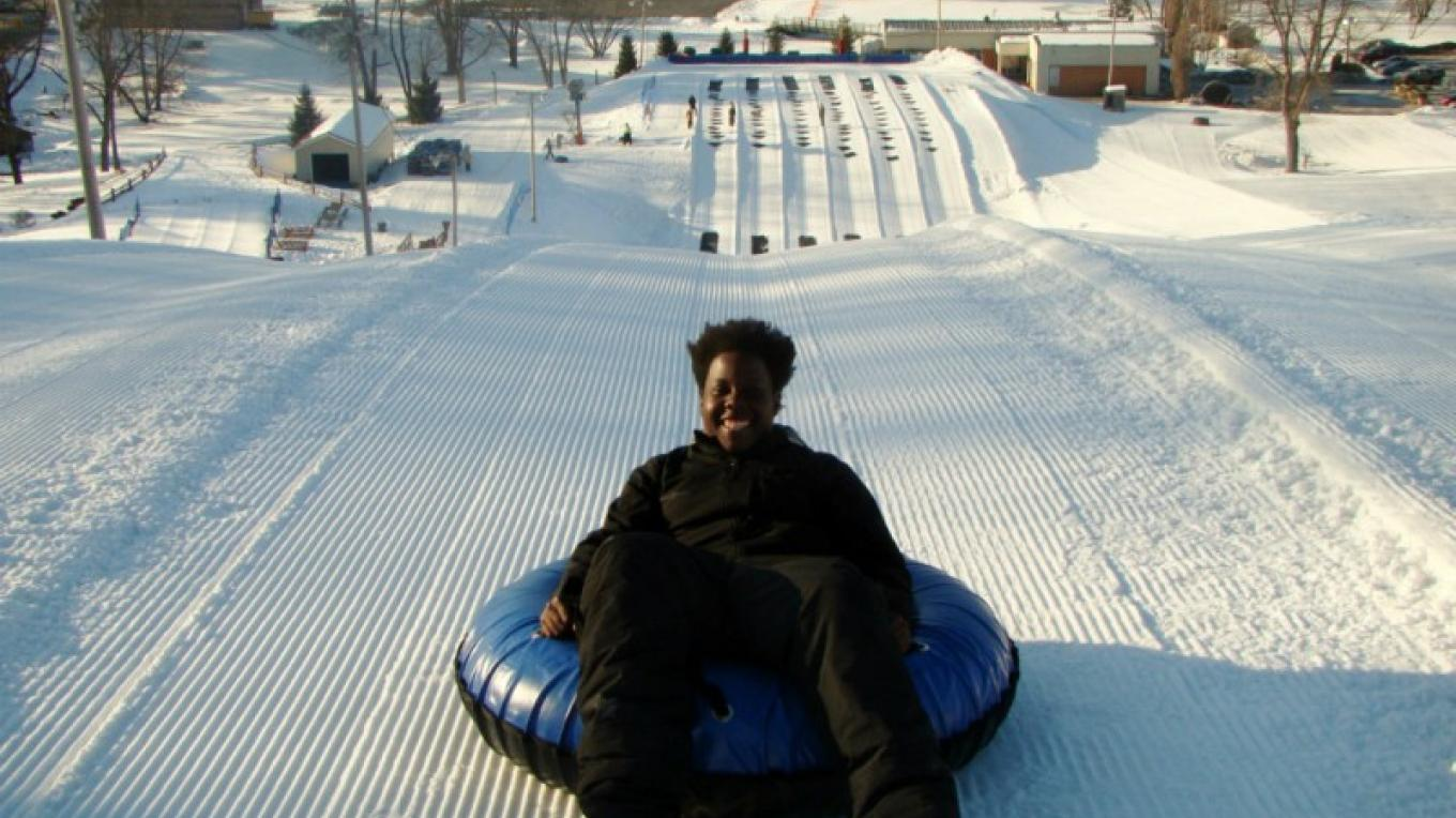 White Lightning Snowtubing at The Villas at Fernwood Resort offer winter fun within walking distance to your villa. – David Coulter
