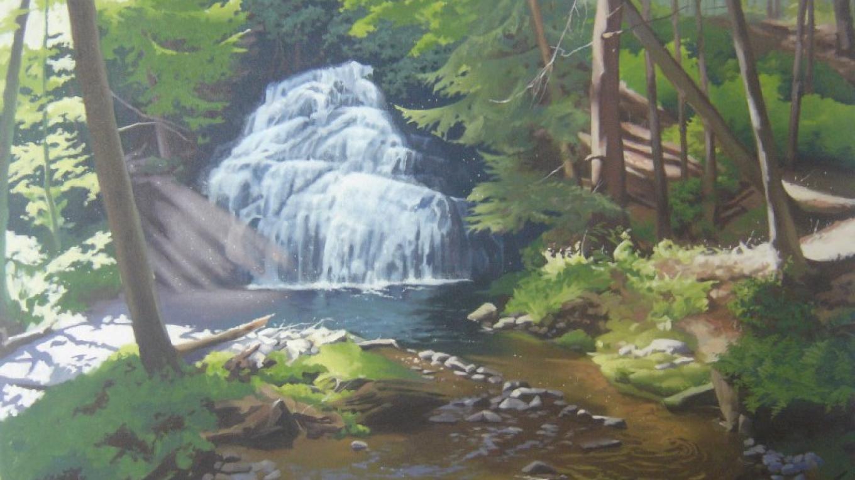 """""""Living Symphony"""" Adams Creek, oil painting – Marie Liu"""