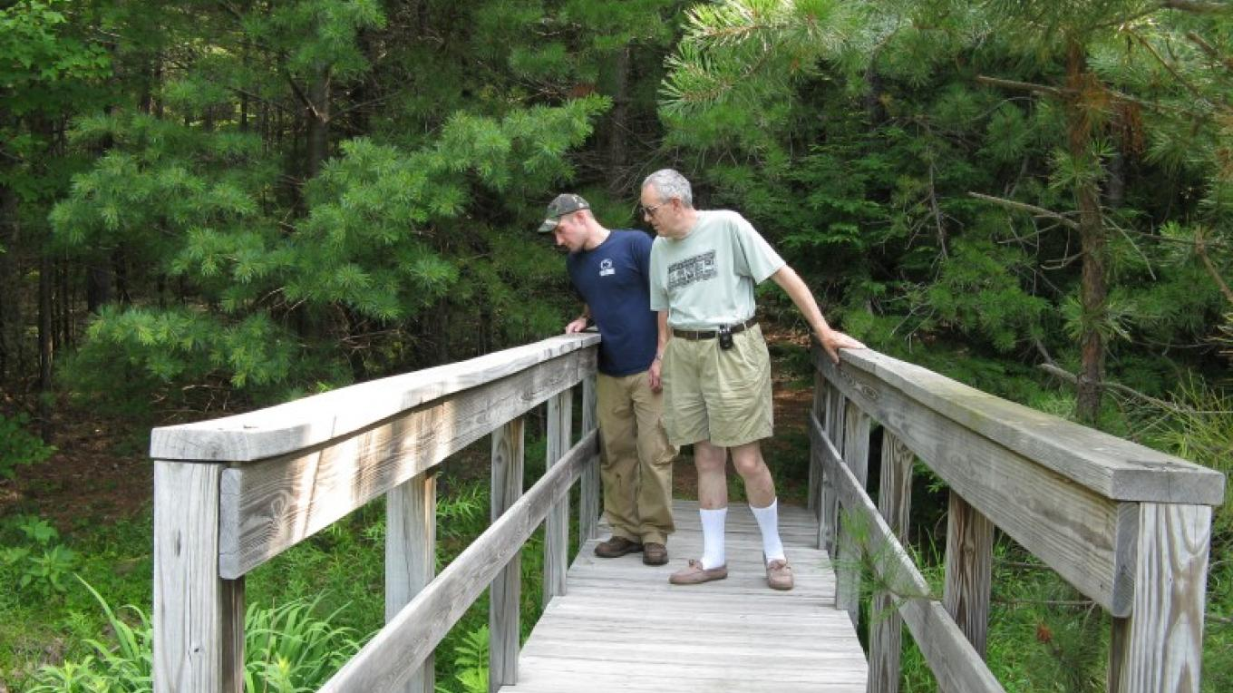A hike on the Lake Lacawac trail will take you to the boardwalk over the bog. – Lacawac Sanctuary