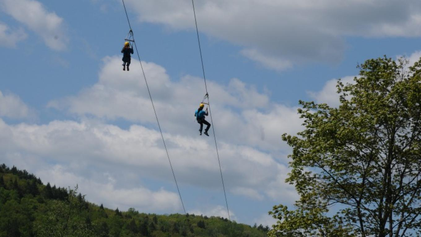 "Bring a friend and the race is on!! You'll have a ""zipping"" good time!"