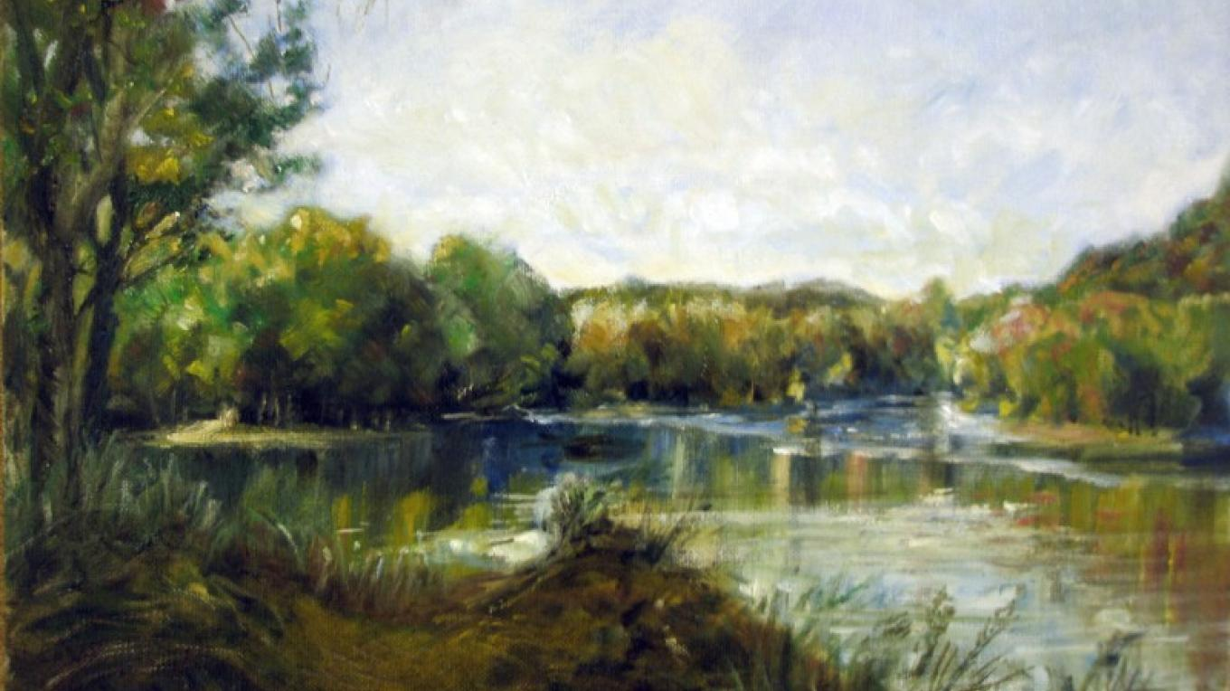 "Oil ""On the Delaware"" – james Gloria"