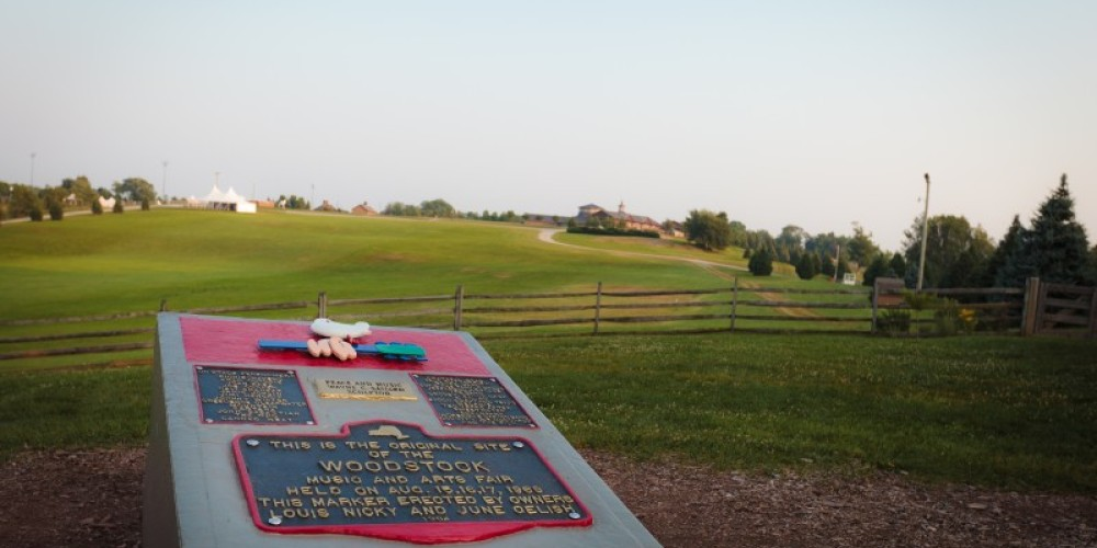 1969 Woodstock festival historic site and monument at Bethel Woods Center for the Arts – Kevin Ferguson