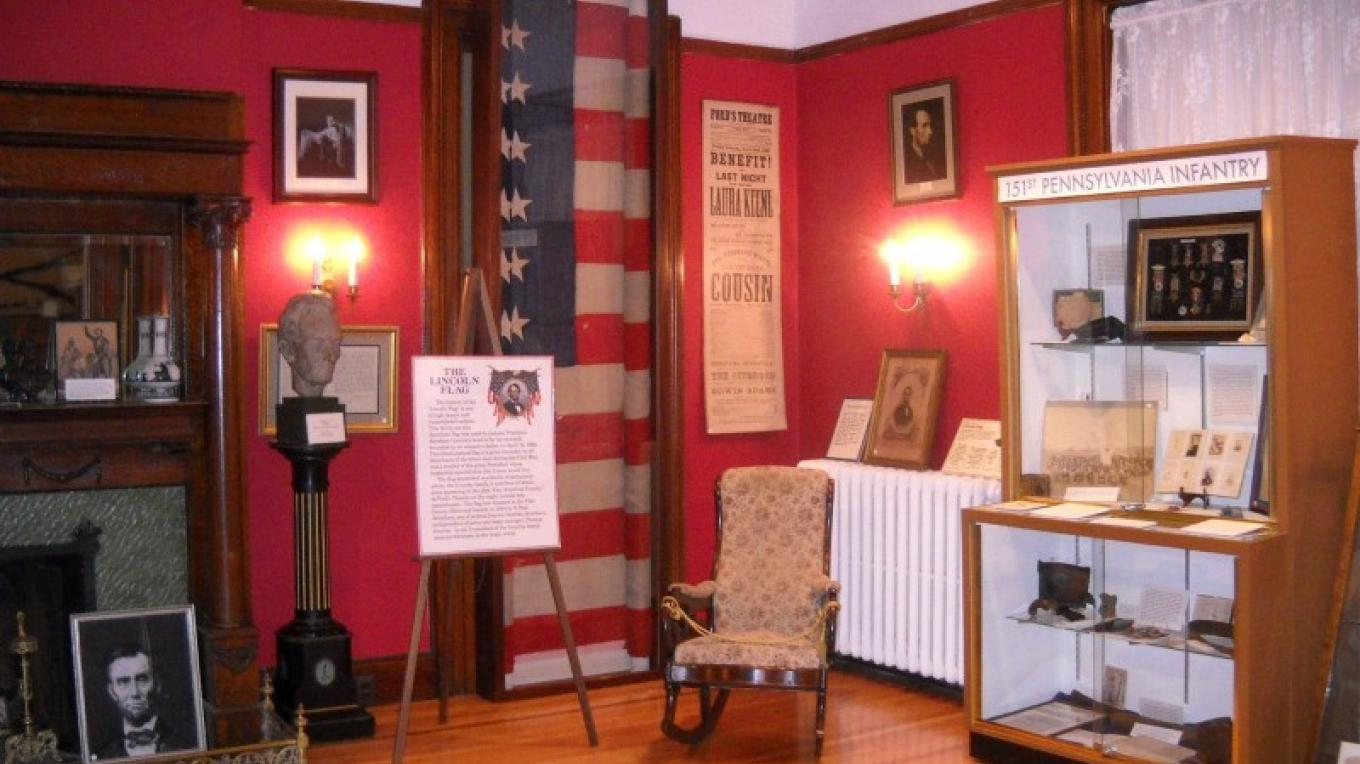 The Columns Museum, three blocks from the Hotel Fauchere, features the blood-stained flag that cushioned President Lincoln's head as its prize relic
