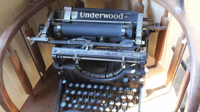 Town Hall and Lockup - typewriter. – Yvonne Gumaer