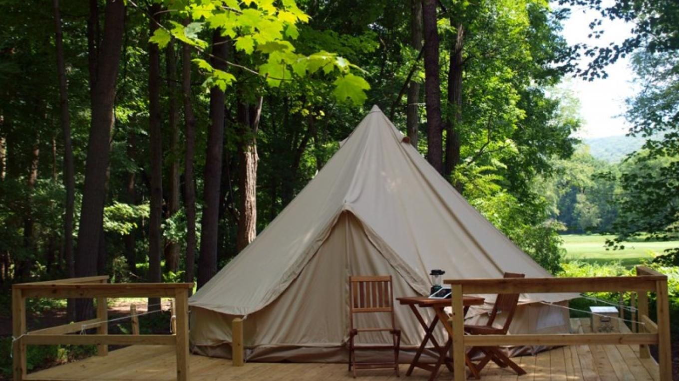 Glamping area at The Shawnee Inn and Golf Resort – The Shawnee Inn and Golf Resort