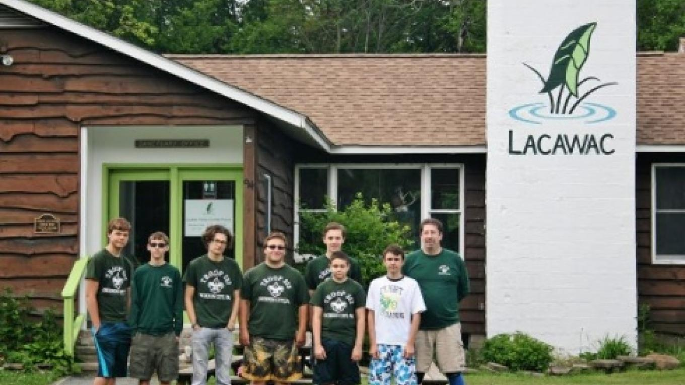 School and civic groups volunteer often at Lacawac. – Lacawac Sanctuary