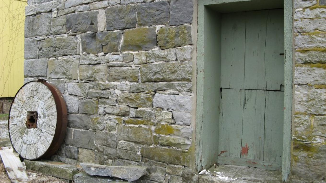 The mill's limestone walls are 2-feet thick at the ground floor. – Rob Jacoby