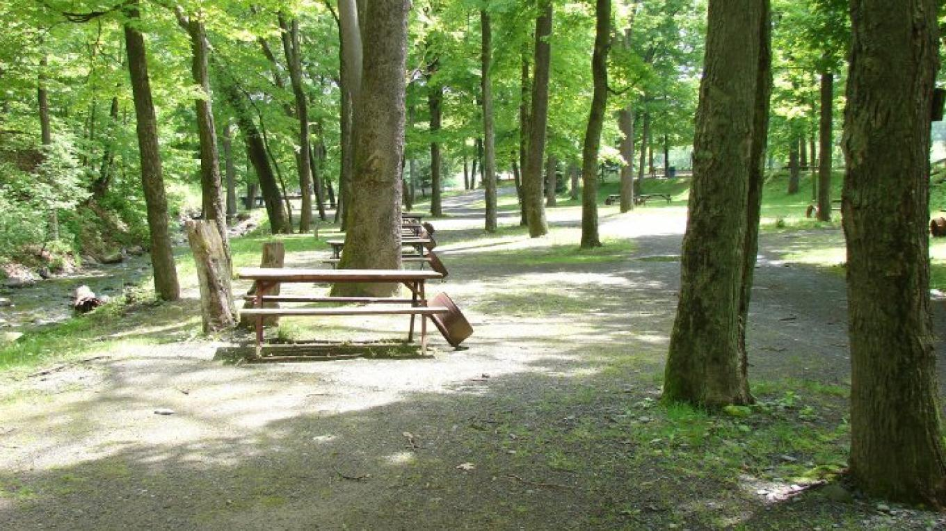 River Beach Campsites (Milford, PA)- Offers rustic, prime brook & river side camping (H20 & elec. avail) along with RV & seasonal areas. Bath house, laundry, arcade, store & more. – Kittatinny Canoes, Inc