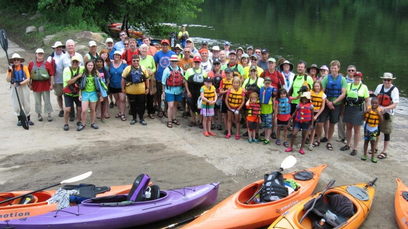 Group photo! Taken at a lunch stop on the 2014 Delaware River Sojourn. – Delaware Canal State Park