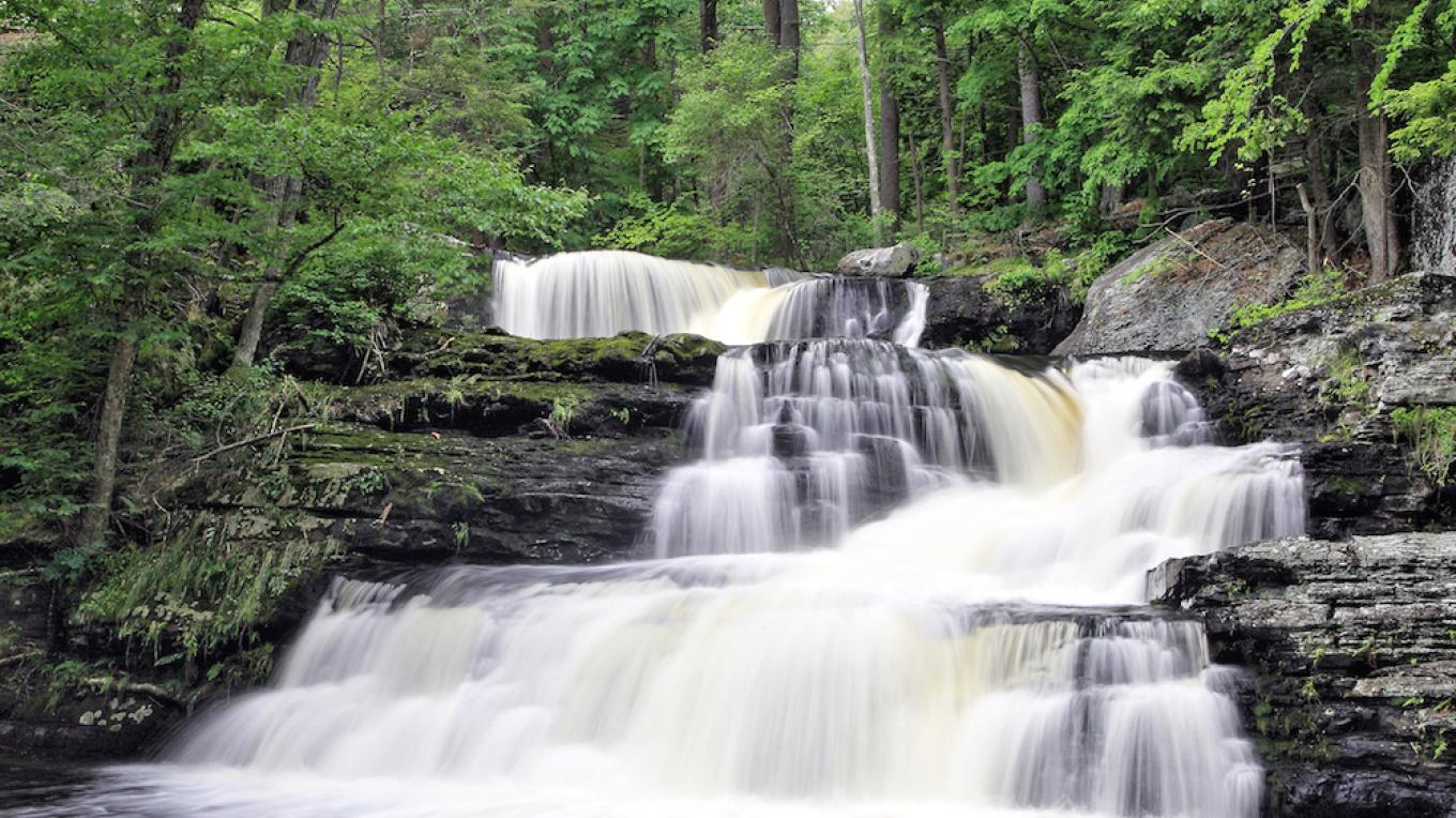 Factory Falls at Childs Park in Dingmans Ferry, PA – Dawn J. Benko