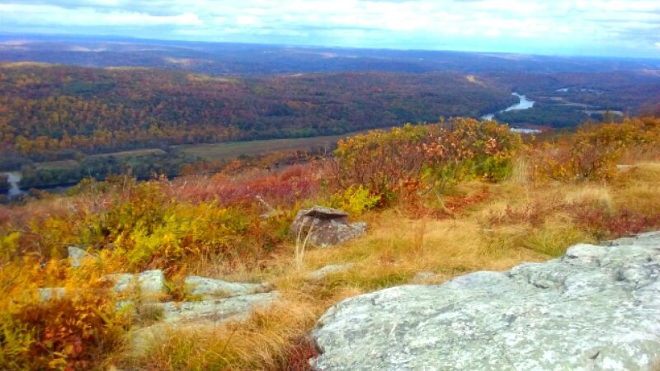 An autumn view of Raccoon Ridge, south of Camp Mohican on the Appalachian Trail. – Sara Morris-Marano