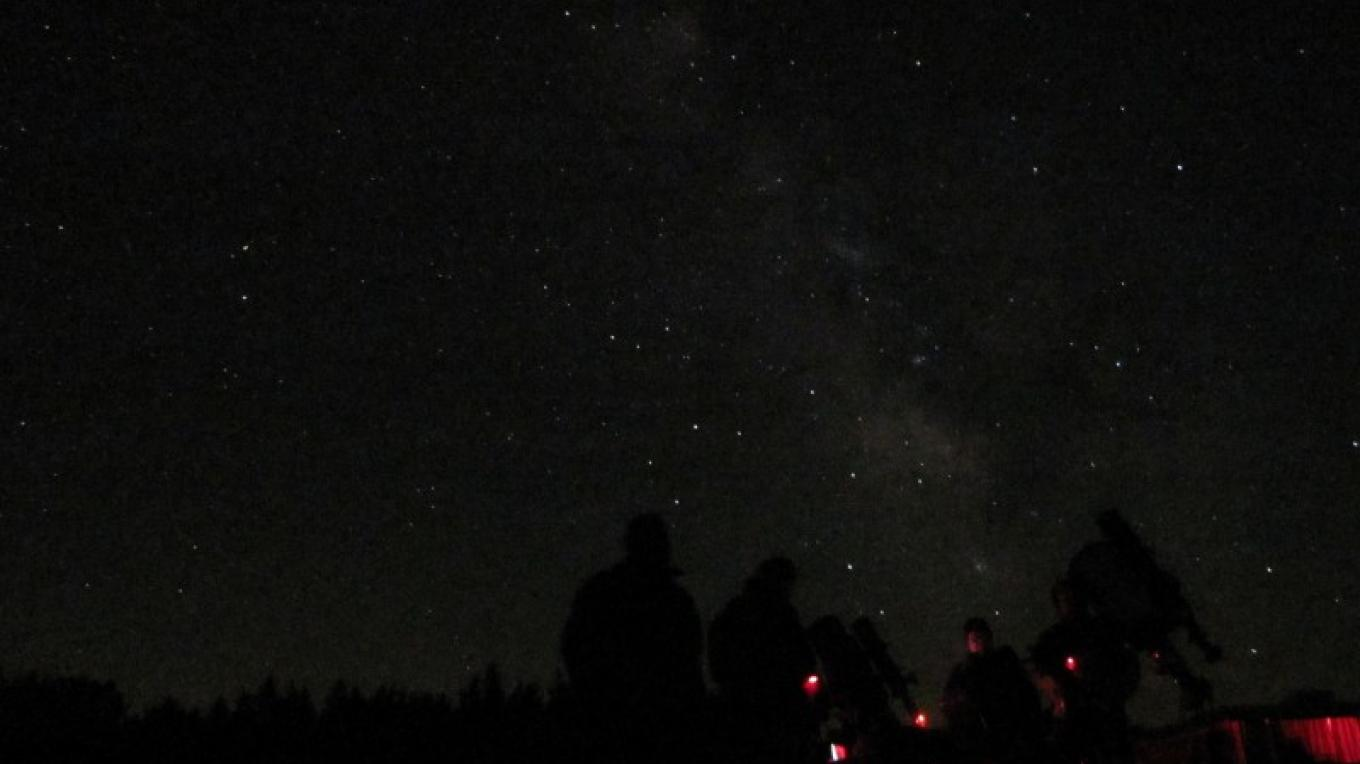 Observing the night sky from UACNJ. – Ken Taylor