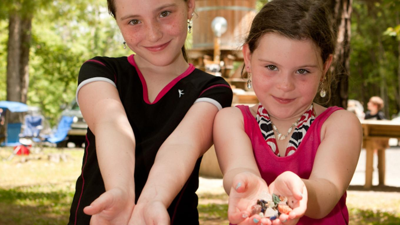 Children enjoy Mining for Gemstones – David W. Coulter