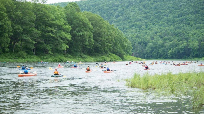 Sojourners paddling the upper Delaware River. – Troy Bystrom, Upper Delaware Preservation Coalition