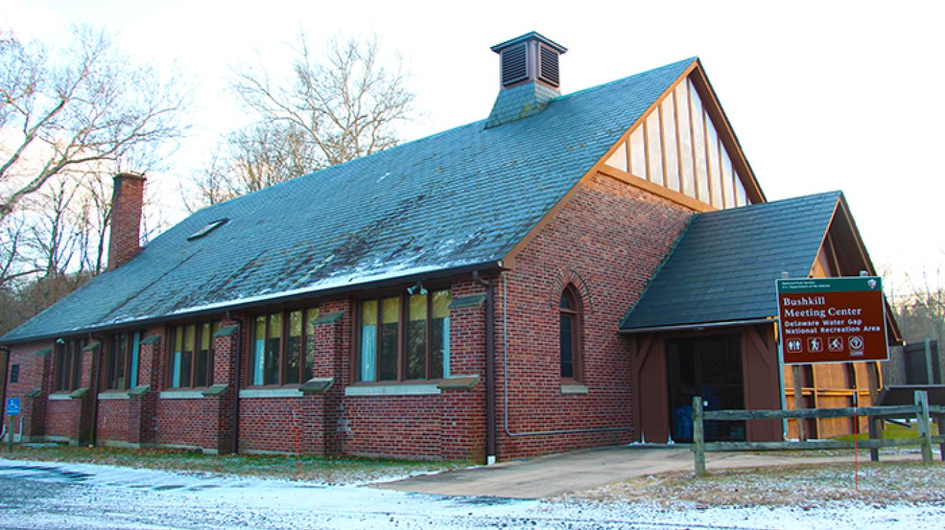In the past, Bushkill Meeting Center was a visitor center for the park. Today, it is used for conferences and various meetings. – National Park Service
