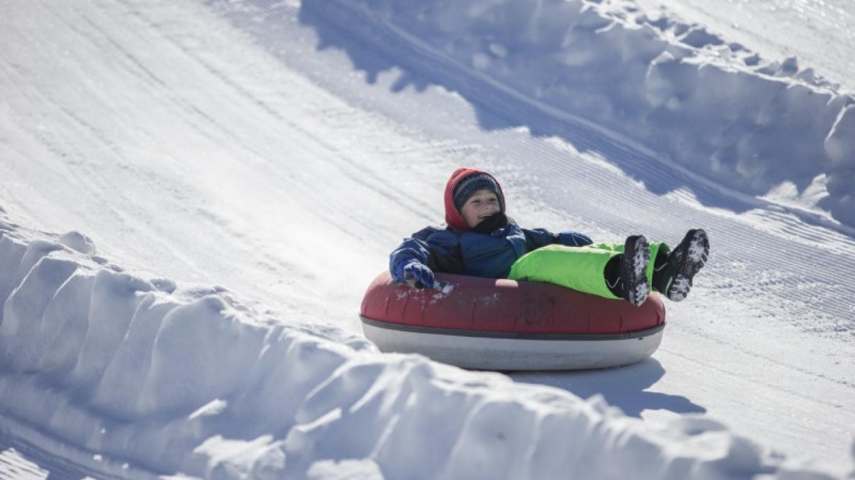 Drop Zone snowtubing offers 30 lanes of fun. – Mountain Creek