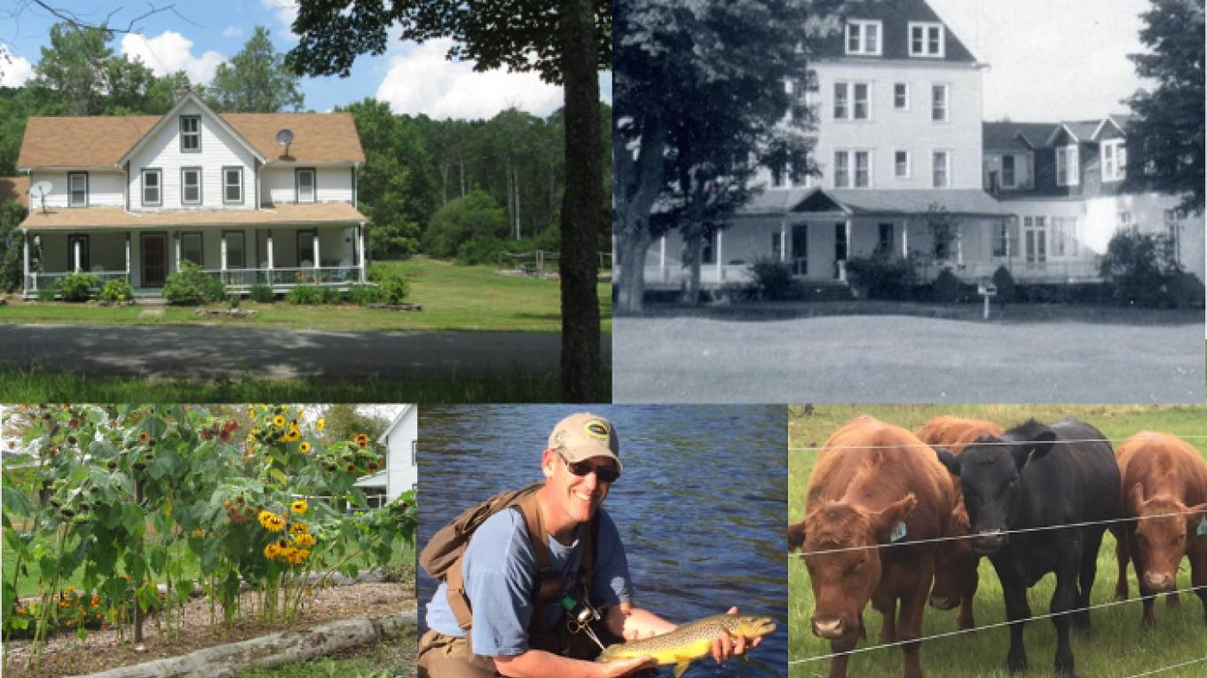 DeBruce Farmstead and Cottages, then and now
