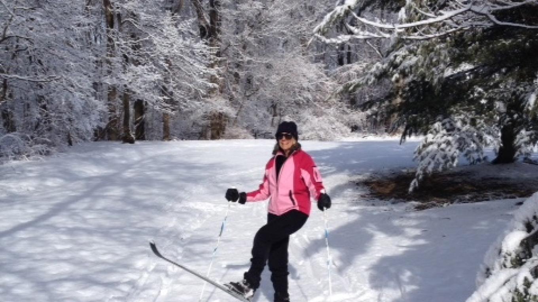 Cross-Country Skiing on Seasonal Pond Interpretive Trail – JoAnne Beliveau