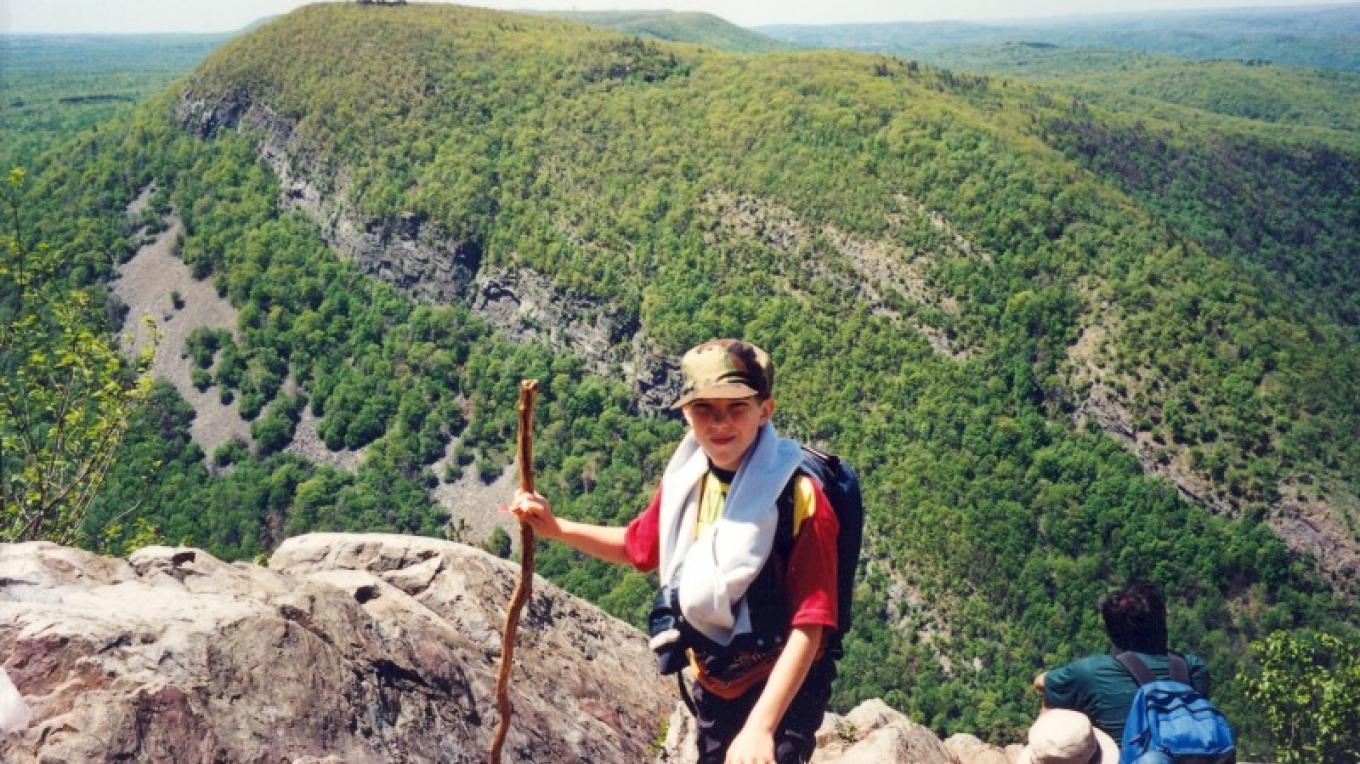 The view from the top of Mt. Tammany. Direct hiking access from the campground. – Camp Taylor Campground