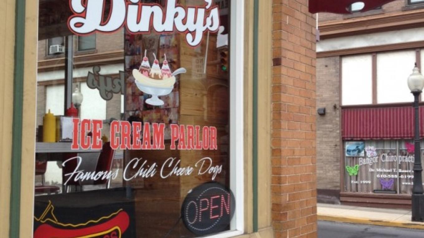 Dinky's Ice Cream Shop, old fashioned fun and flavor, Bangor – Property of the Slate Belt Community Partnership