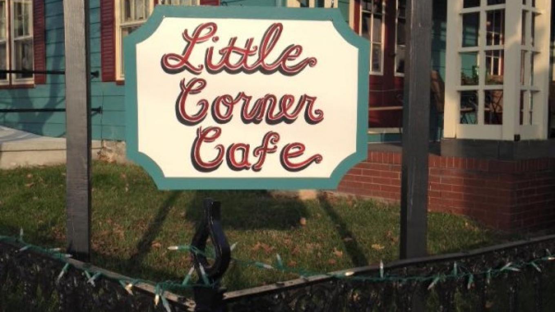 Little Corner Cafe, 1st & Chestnut Sts., Bangor. A renovated home featuring vintage painted ceilings and Mercer Tile fireplace. – Sharon J. Davis, Slate Belt Community Partnership