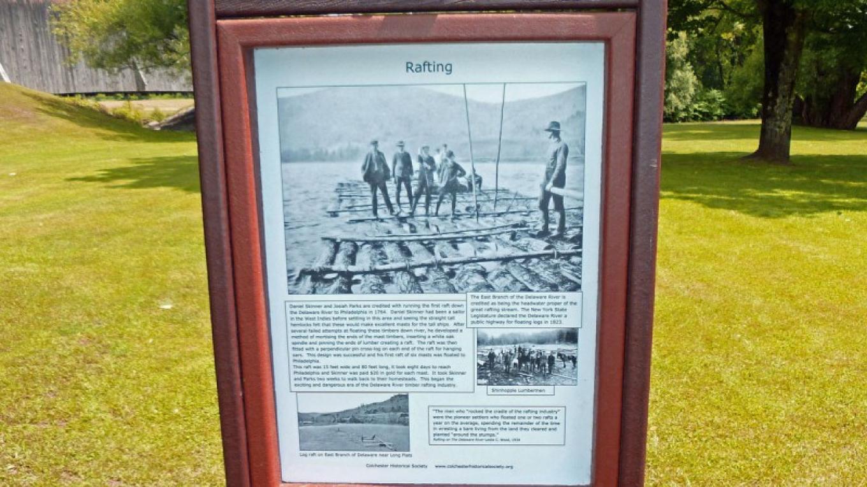Rafting Interpretive sign at Downsville Covered Bridge Park-Downsville, NY – Kay Parisi-Hampel