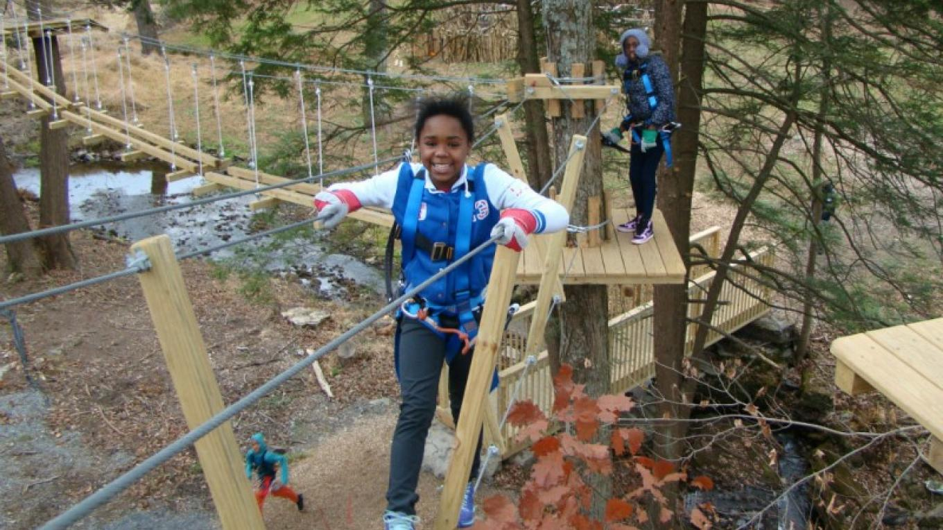 Pocono TreeVentures Aerial Ropes Adventure Park is within walking distance to your accommodations when you stay at The Villas. – David Coulter