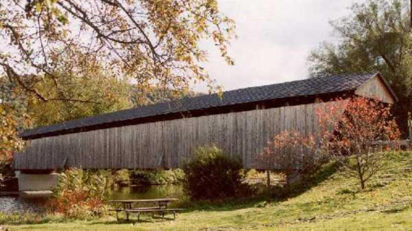 Fall Covered Bridge – Kay Parisi-Hampel