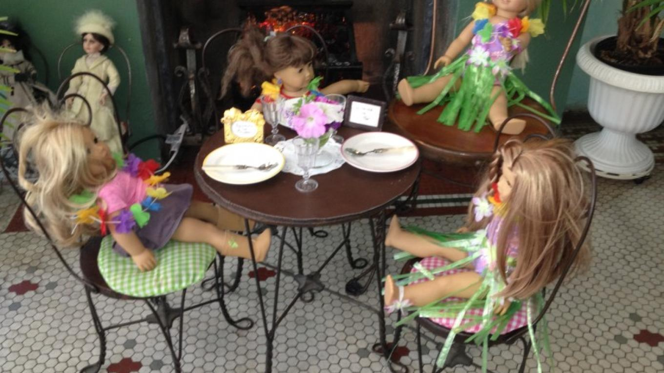 Dolls overtake the Children's table – Photograph by: Zoe's Ice Cream Emporium