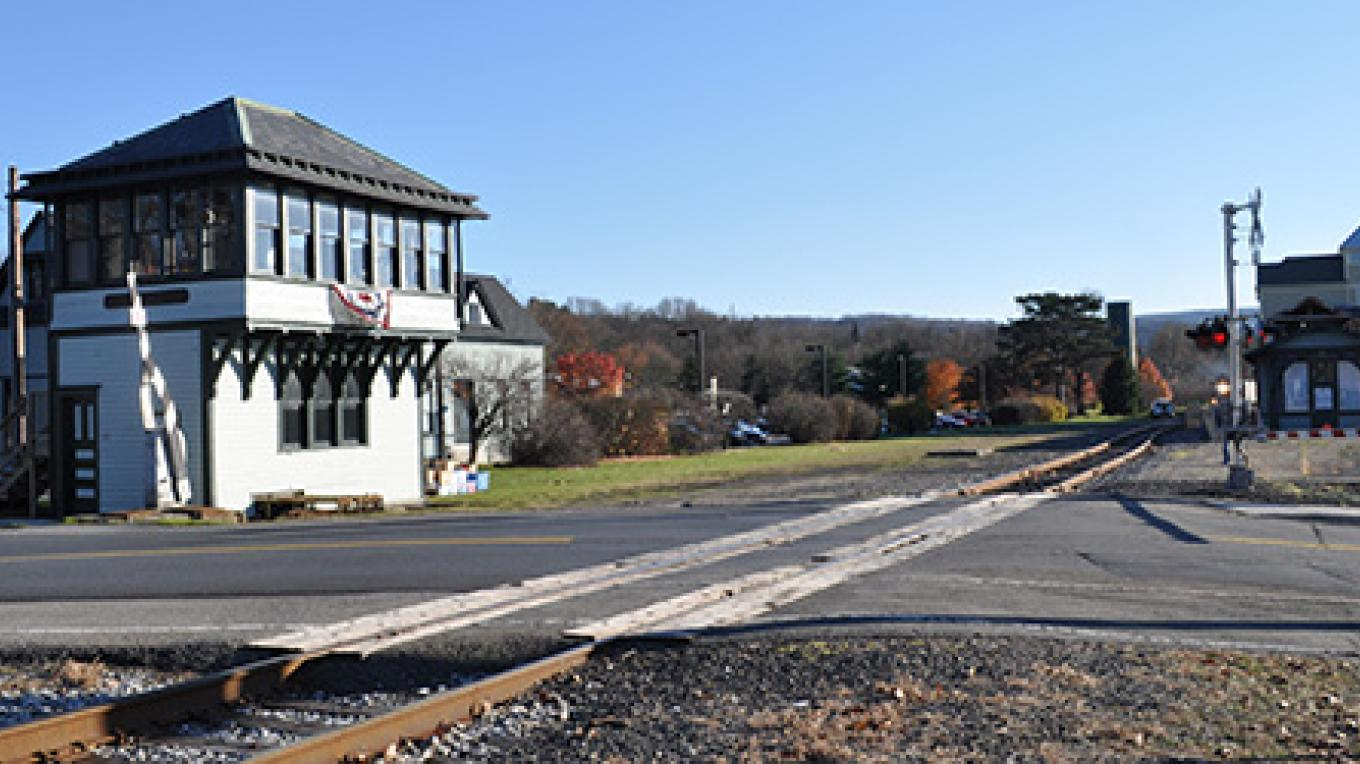 East Stroudsburg Railroad Tower — restored and open for special events. – Monroe County Historical Association
