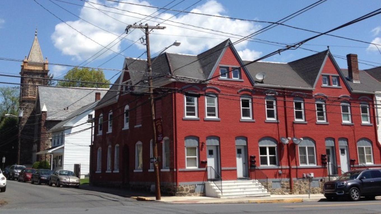 Examples of architectural styles, 2nd & Broadway, Bangor. – Courtesy of Slate Belt Community Partnership