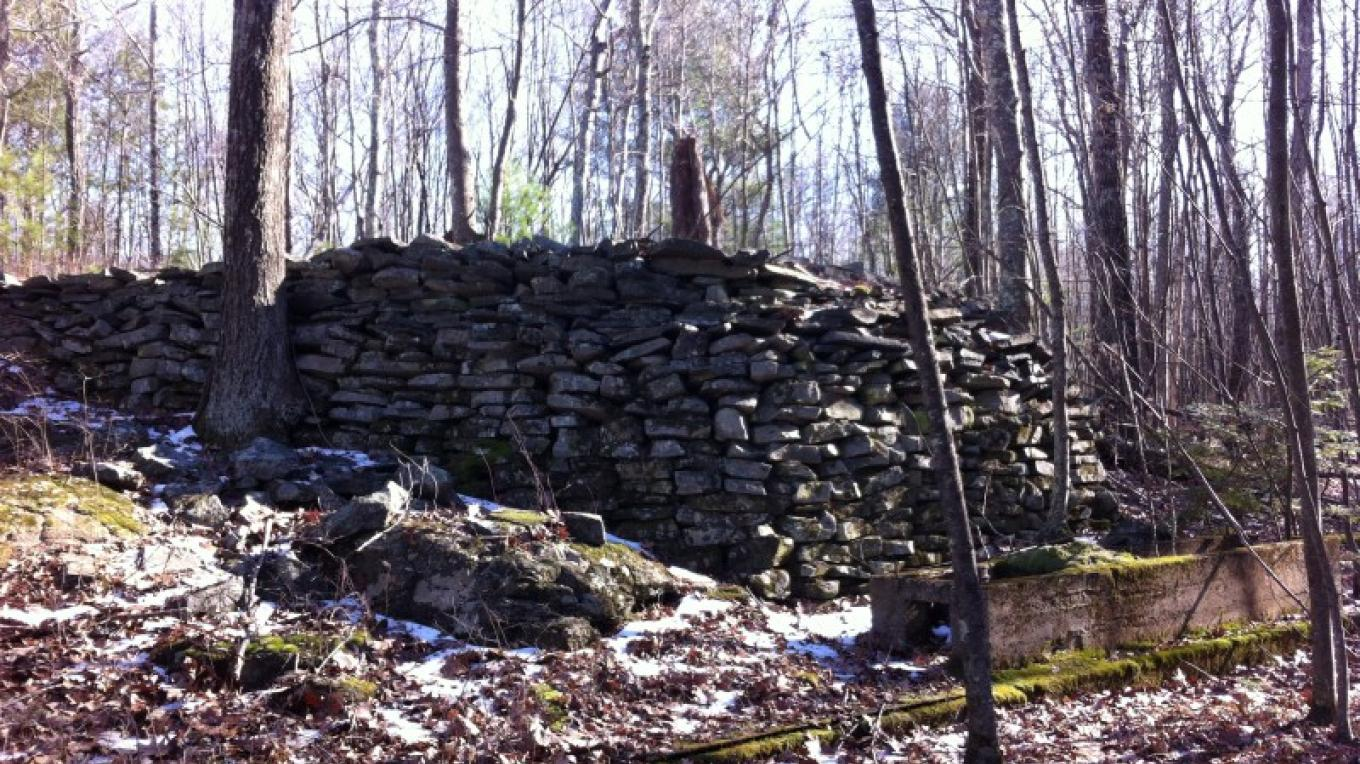 Remnants of old stone work from the mining days. – Garrett Beers