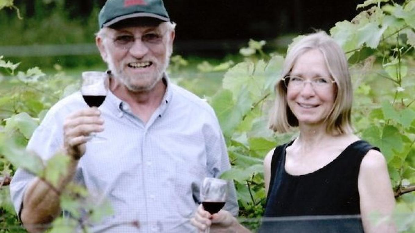 Owners, Gene and Anne in the front vineyard, summer, 2005. – North Jersey Herald