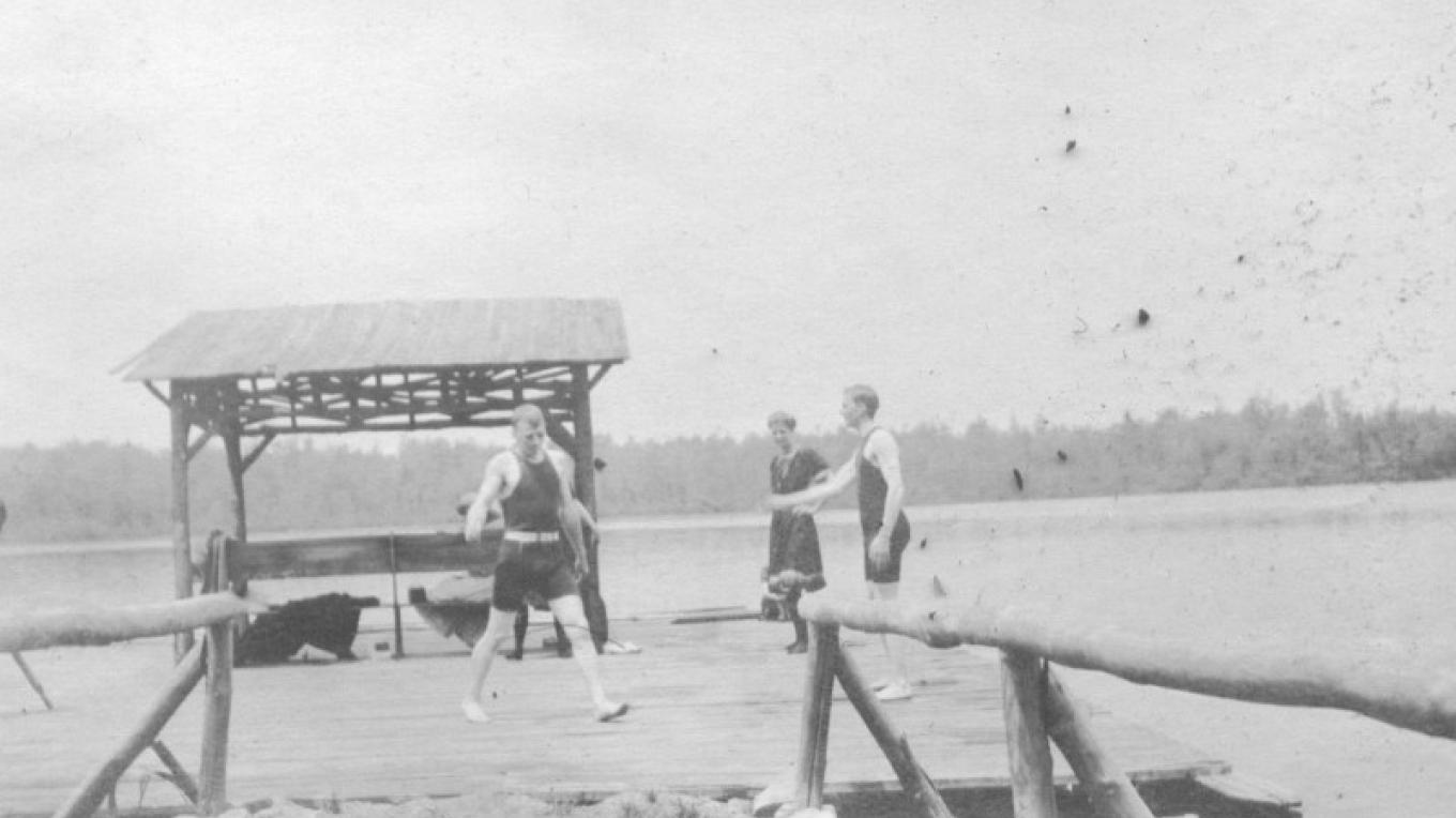 The dock at Lake Lacawac in 1920's