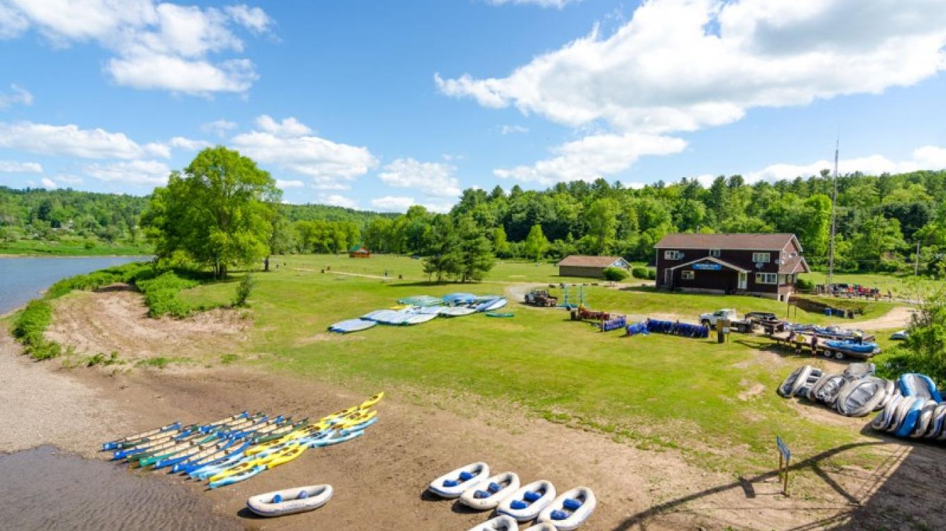 Overview of our campground from the Skinners Falls Bridge – Lisa Lander