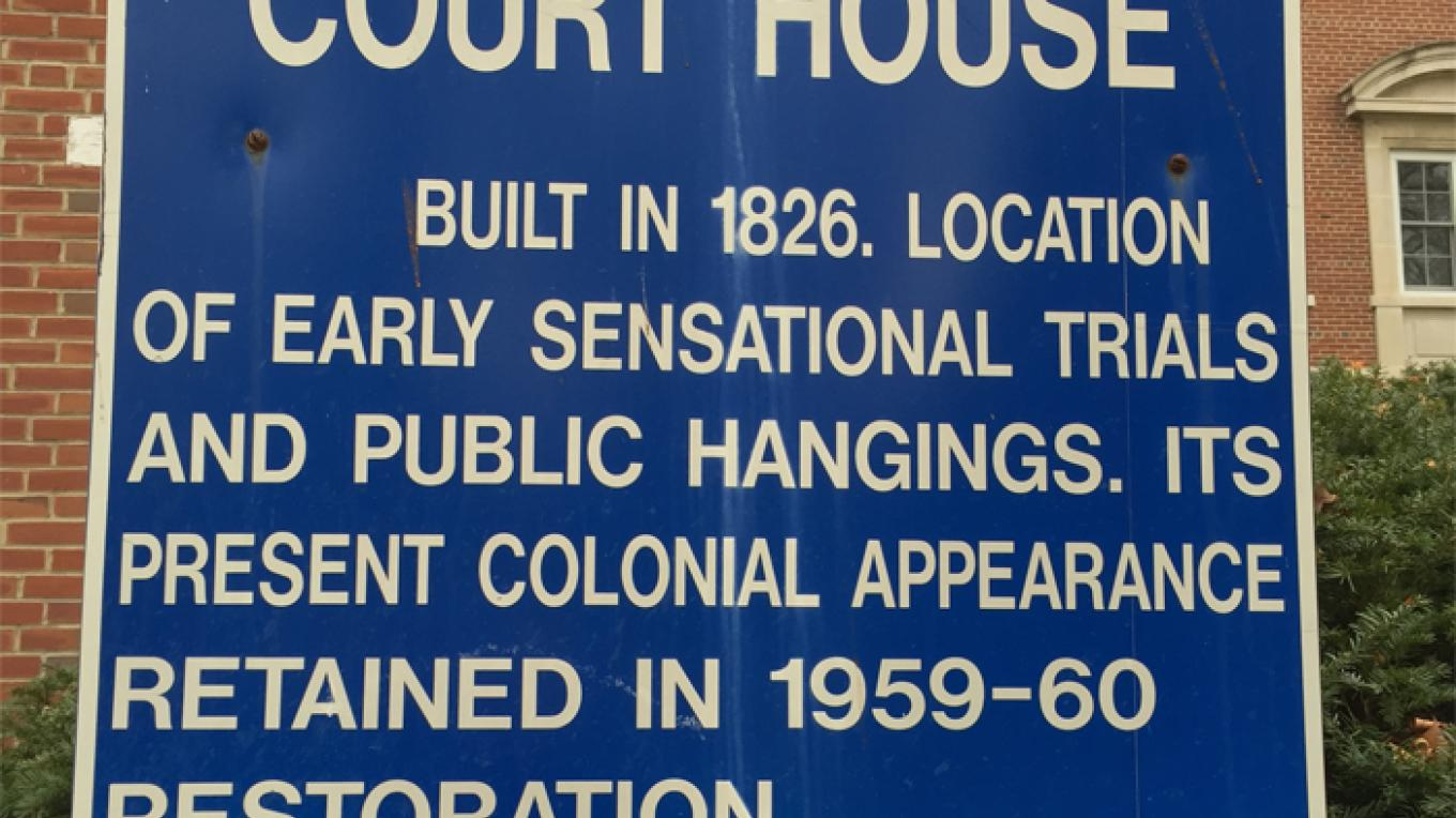 Warren County Court House information sign. – Patricia Butler