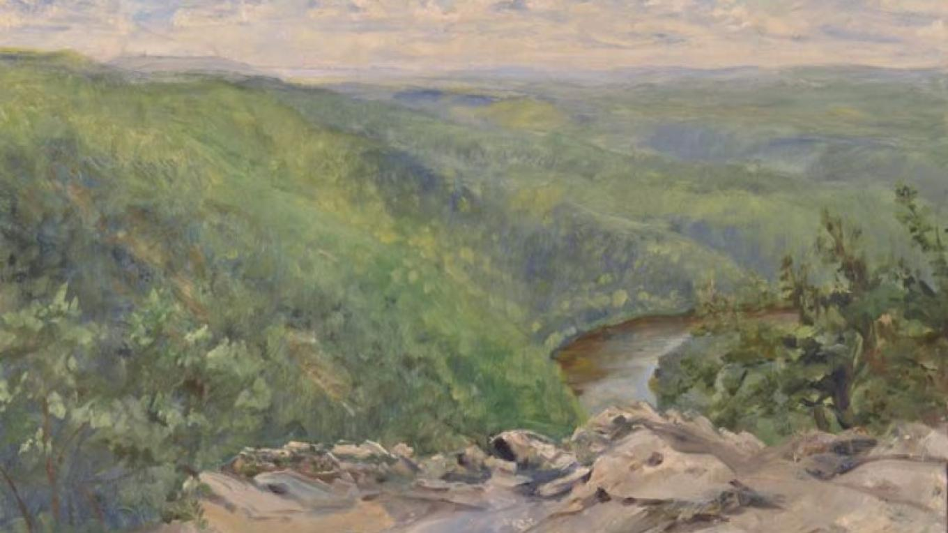 """View From Mt. Tammany"" Oil on linen – james gloria"