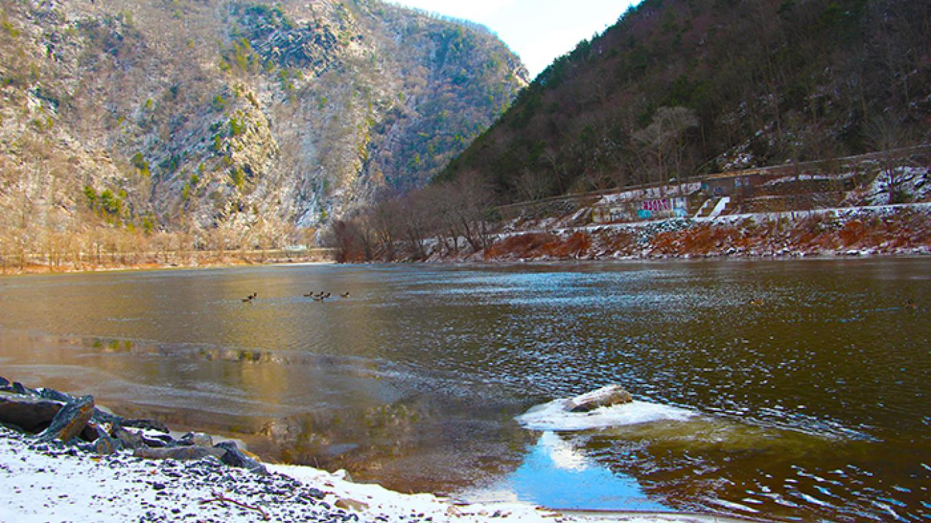 View of the Delaware Water Gap from Kittatinny Point Boat Launch. – National Park Service