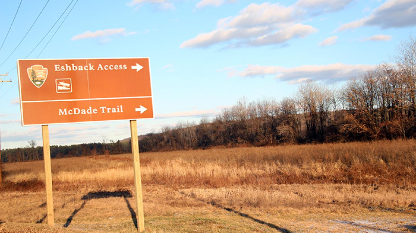Eshback Access entrance as seen from Route 209 – National Park Service