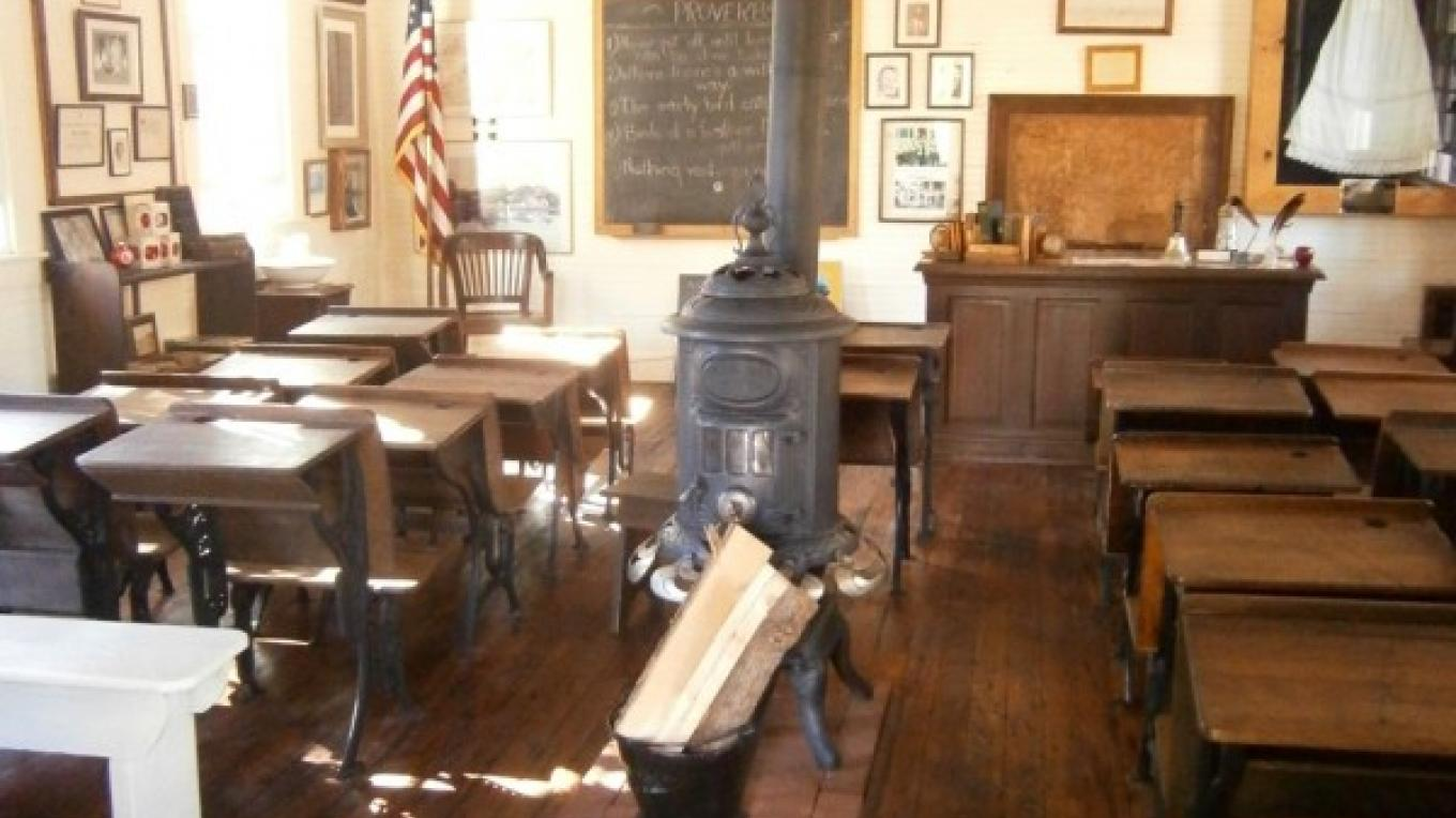 Interior of Byram Township's Museum in Roseville Schoolhouse – A. Batko