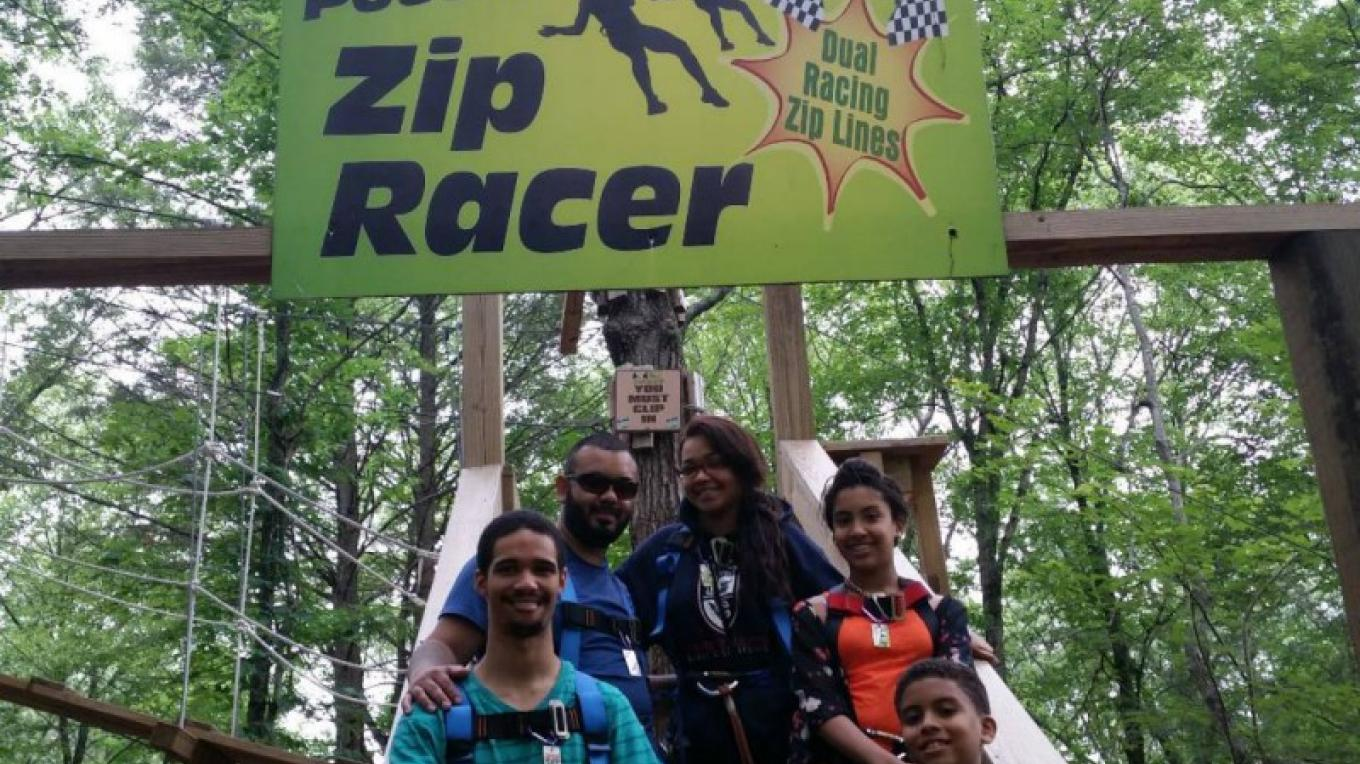 Grab your friends and go zip lining any time of the year at Pocono Zip Racer in Bushkill, PA. It is an amazing way to experience the beauty of nature as you fly through the air. – David Coulter