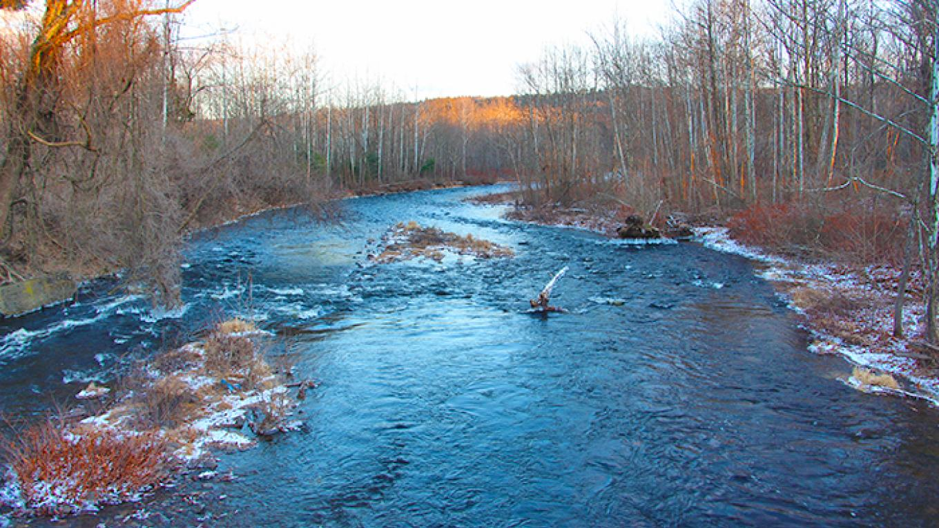 Looking at Bushkill Creek as it flows towards the Delaware River. – National Park Service