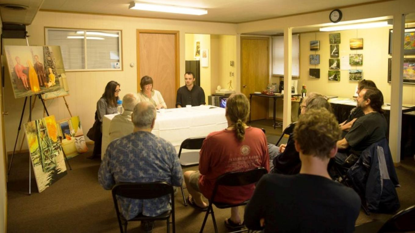 """Creative Conversations"" is our monthly discussion group. – Artists' Market Community Center"